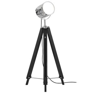 [lux.pro] Stehleuchte Stehlampe (1 x E27 Sockel)(Höhenverstellbar: 64cm - 140 cm) Dreifuss Lampe Studio Film-Scheinwerfer Industrial Design Leuchte Standleuchte Studioleuchte