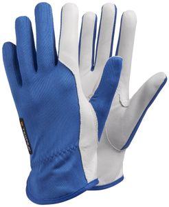 Ejendals TEGERA 30, Workshop gloves, Blau, Weiß, Latex, Leder, Nylon, Erwachsener, Erwachsener, Kratzresistent