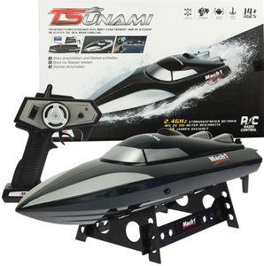 Mach1 Ferngesteuertes Boot Tsunami inklusive Ladegerät und Akku - Farbe schwarz 2457