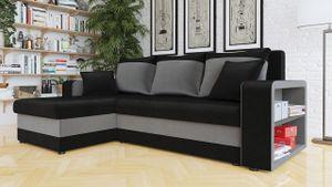 Mirjan24 Ecksofa Fano Lux, Eckcouch mit Zwei Bettkasten und Schlaffunktion, L-Form Sofa Seite Universal vom Hersteller (Magic Velvet 2219 + Magic Velvet 2217)