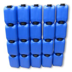 20 Stück 5 Liter 5 L Kanister Wasserkanister Campingkanister Farbe blau lebensmittelecht DIN51 (20x5knb51)