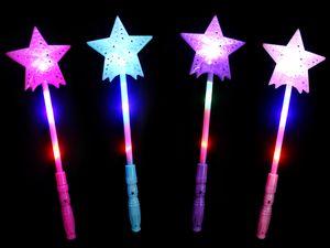 Leuchtstab LED Zauberstäbe Bunt ca. 35 cm , Farbe wählen:Leuchtstab Stern pink