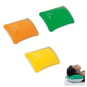 3x aufblasbares Kissen / Strandkissen / Farbe: je 1x gelb, grün, orange