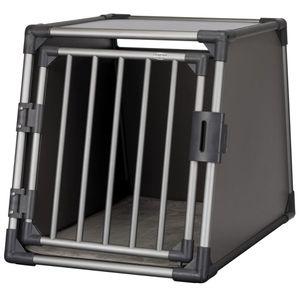 TRIXIE Hunde-Transportbox Größe M-L Aluminium Graphitgrau 39337