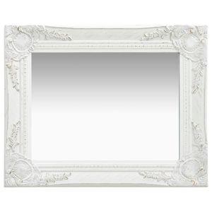 vidaXL Wandspiegel im Barock-Stil 50 x 40 cm Weiß