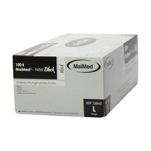 Maimed Black Nitril Handschuhe puderfrei schwarz 100 Stück Gr. L