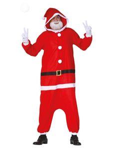 Unisex Christmas Kigurumi Jumpsuit Weihnachtsmann, Größe:M