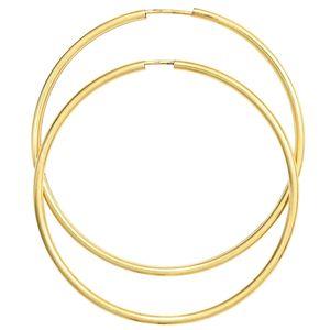 Creolen rund groß 333 Gold Gelbgold Ohrringe Durchmesser 50 mm