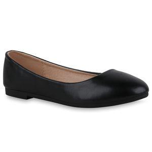 Giralin Damen Klassische Ballerinas Bequeme Kunstleder Sommer-Schuhe 836707, Farbe: Schwarz, Größe: 41