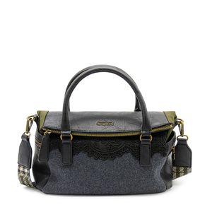Desigual Bols Be Global Loverty Damen Tasche in Schwarz, Größe 1