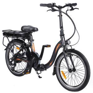 Fafrees 20F054 Faltbares 20 Zoll E-bike 250W Citybike 36V 10AH  Elektrofahrrad Mountainbike Faltbar E-Bike Leistung 25 km / h Trekkingrad bis 120 kg - Schwarz