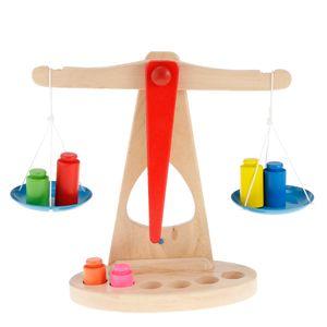 Kinder Waage Holz Balkenwaage Spielwaage Kaufladen Kaufmannsladen Spielzeug Zubehör