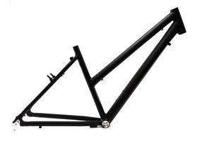 28 Zoll Alu Fahrrad Rahmen Damen Trekking City Bike Rh 45cm schwarz matt  Ketten Schaltung  A-Head 1 1/8