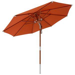 anndora Sonnenschirm Knicker 3 m rund mit Dreh-Kipp-Mechanismus Terracotta - Terracotta