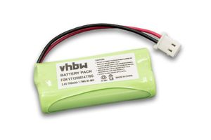 vhbw NiMH Akku 700mAh (2.4V) für Babyphone, Babyfone Motorola MBP20, MNP28 wie VT1208014770G.