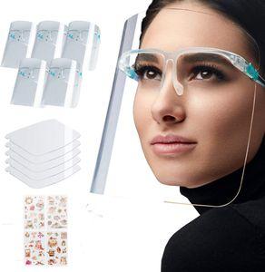 5 Stück Gesichtsschutz Visier mit Brillenträger aus Kunststoff Schutzschild Face Shield Schutzvisier Gesichtsvisier Schutz
