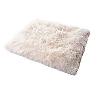 Katze Haustierbett Plüsch Kissen Atmungsaktiv Multifunktions Zwinger Matratze Weiß 61x51cm Modern Nistbett