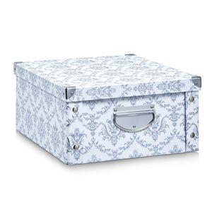 """Zeller Aufbewahrungsbox """"Vintage"""", Pappe, weiß - 40x33x17; 17973"""