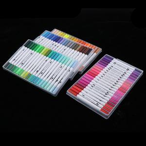 80 Farbmarker Textil Marker Stifte Filzstift Folienstift für Kartenherstellung DIY