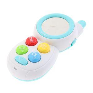Baby Spielzeug Handy Telefon mit Musik aus Kunststoff Kinder Lern- und Musikmodi Spielzeug Farbe Blau