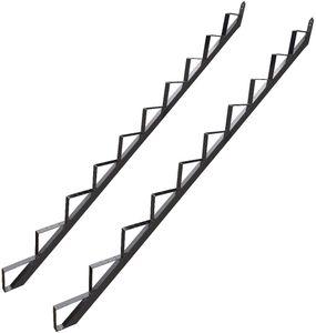 10 Stufen Treppenrahmen Stahl-Treppenwange Treppenholm Geschosshöhe 186cm Grau