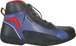 German Wear, Biker Motorradstiefel Motorrad Touring Stiefel stiefletten schwarz, blau/rot 17cm, Schuhgröße:44