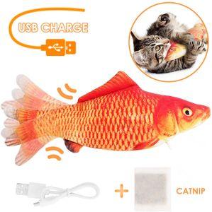 Elektrische USB-Ladesimulation Fisch Katzenspielzeug Lustige interaktive Haustiere Katzen Katzenminze Spielzeug fuer