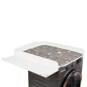 Wickeltischaufsatz für Waschmaschine und Trockner, weiß, MDF, Wickeltisch, 83 cm x 72 cm x 5,5 cm