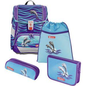 Step by Step Schulranzen-Set Happy Dolphins 4-teilig