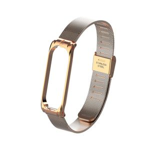 Metallband armband fuer mi band 3 4 ersatzgeschaeft langlebig metall schraubenlos edelstahl armband band fuer xiaomi mi band 3 4