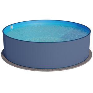 Summer Fun Stahlwandbecken Malibu Basic rund ø 3,50m x 1,20m Folie 0,4mm Einzelbecken Pool Rundpool / 350 x 120 cm Stahlwandpool Rundbecken