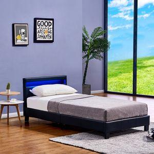 LED Bett Astro 90 x 200 Schwarz