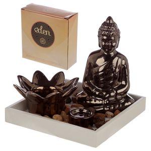 Buddha mit Teelichthalter & Räucherstäbchenhalter