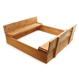 Sandkasten Klappdeckel Sandkiste Sitzbank Sandbox Buddelkasten Buddelkiste