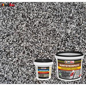 Isolbau Buntsteinputz SET Mosaikputz BP30 (schwarz, grau, weiss)  10 kg +Quarzgrund 1,5 kg