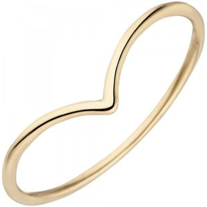 JOBO Damen Ring 54mm schmal 585 Gold Gelbgold Goldring