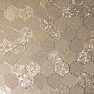 DUTCH WALLCOVERINGS Tapete Honeycomb Champagnerfarben