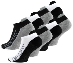 Vincent Creation® Sneaker Socken 8 Paar, mit Hochferse 43-46