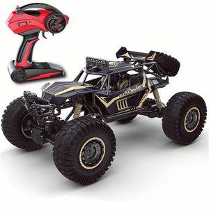1:8 2,4 GHz 50CM RC-Auto Monstertruck ferngesteuertes Buggy Allradantrieb Geländewagen Off-Road Stoßfest 4WD, Schwarz