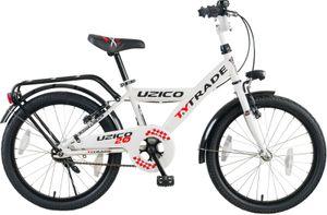 20 ZOLL KINDER JUNGEN CITY CITYFAHRRAD FAHRRAD KINDERFAHRRAD Jungenrad Rad Bike RÜCKTRITTBREMSE BELEUCHTUNG UZICO Weiß Schwarz Rot TYT19-031