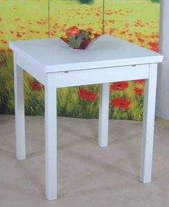 Esstisch Küchentisch weiß, ca. 67 x 67 cm ausziehbar bis 127 cm