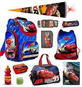 Disney Cars PL Schulranzen Set 10tlg. mit Sporttasche und Schultüte 85cm Blau