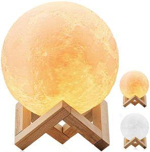 3D Mond Nachtlicht Lampe 880ML Ultraschall Luftbefeuchter Aroma Diffuser 3D Mond LED-Licht Humidifier