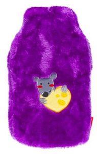 GKA Kinder Wärmflasche Plüsch Wärmekissen lila Maus mit Käse 1800 ml Wärmetherapie weich warm