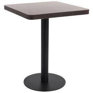 Chunhe Bistrotisch Stehtisch Tisch Tischhusse Küchentisch Dunkelbraun 60x60 cm MDF
