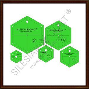 Hexagon Set Vorlage Nähen Patchwork Quilting Lineal 5 Schablonen