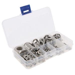 580 PCS Set Edelstahl Flache Unterlegscheiben Dichtung Flachring für Schrauben oder Muttern M2 / M2.5 / M3 / 4 / M5 / M6 / M8 / M10 / M12