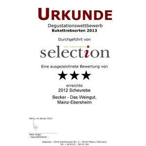Weißwein Rheinhessen Scheurebe Weingut Becker halbtrocken ( 9 x 0,75 l)