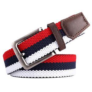 Herrengürtel, Gürtel Herren Damen Stoffgürtel Flechtgürtel Stretchgürtel für Männer Jeans Anzug, 35mm breit, Länge 105 cm