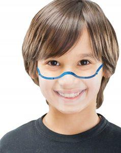 Kind Mund Nasen Visier transparent Gesichtsmaske Gesichtsschutz Gesichtsvisier Blau